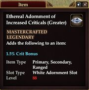Ethereal Adornment of Increased Criticals (Greater)