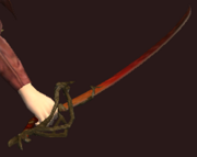 Flametouched Shissar Rapier (Equipped)