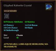 Glyphed Kaborite Crystal