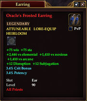 Oracle's Frosted Earring