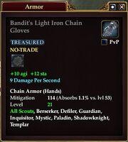 Bandit's Light Iron Chain Gloves