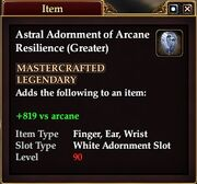 Astral Adornment of Arcane Resilience (Greater)