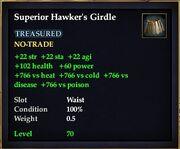 Superior Hawker's Girdle