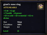 Giant's nose ring