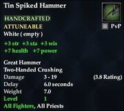 Tin Spiked Hammer