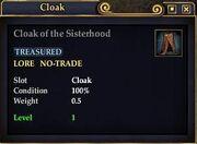 Cloak of the Sisterhood
