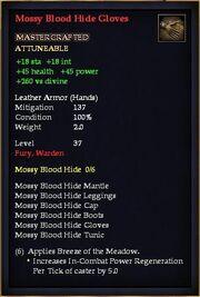 Mossy Blood Hide Gloves