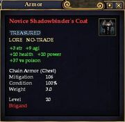 Novice Shadowbinder's Coat