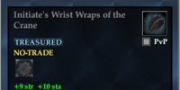 Initiate's Wrist Wraps of the Crane