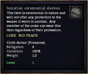 Tunarian ceremonial sleeves