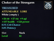 Choker of the Strongarm