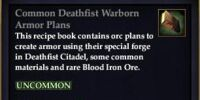 Common Deathfist Warborn Armor Plans