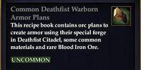 Common Deathfist Warborn Armor Plans