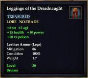 Leggings of the Dreadnaught