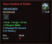 Onyx Symbol of Serilis