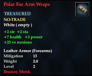 Polar Fur Arm Wraps
