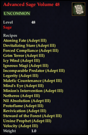 Advanced Sage Volume 48