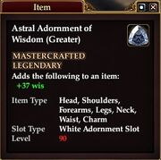 Astral Adornment of Wisdom (Greater)