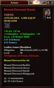 Blessed Direwood Mantle