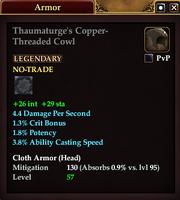 Thaumaturge's Copper-Threaded Cowl