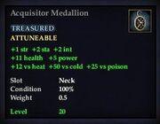 Acquisitor Medallion