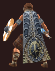 Empowered Cloak of the Qeynosian Fighter (Equipped)