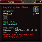 Knight's Legplates of Force