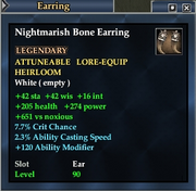 Nightmarish Bone Earring