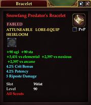 Snowfang Predator's Bracelet