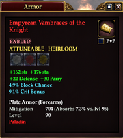 Empyrean Vambraces of the Knight