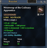 Wristwrap of the Culinary Apprentice