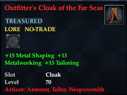 Outfitters Cloak of the Far Seas