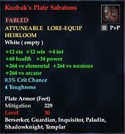 Kuzbak's Plate Sabatons