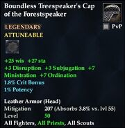 Boundless Treespeaker's Cap of the Forestspeaker