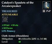 Catalyst's Epaulets of the Arcanespeaker