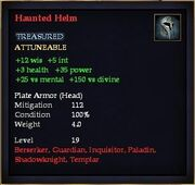 Haunted Helm (Equipment)