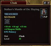 Stalker's Mantle of Orc Slaying