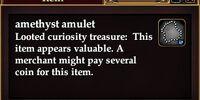 Amethyst amulet