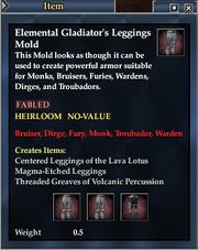 Elemental Gladiator's Leggings Mold
