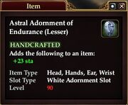 Astral Adornment of Endurance (Lesser)