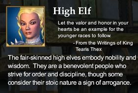 High Elf (Character Race)