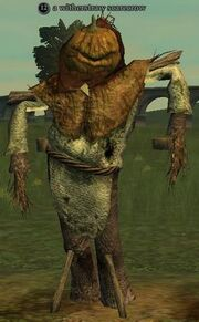 A witherstraw scarecrow