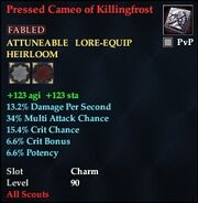Pressed Cameo of Killingfrost