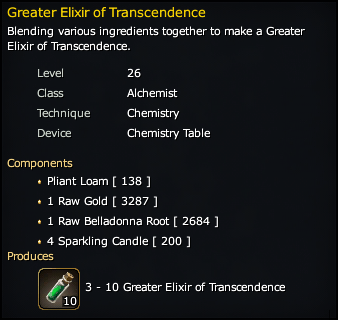 Greater Elixir of Transcendence Recipe