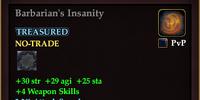 Barbarian's Insanity