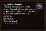 Mysterious bracers