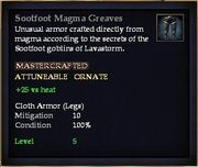 Sootfoot Magma Greaves