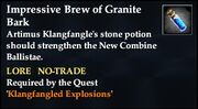Impressive Brew of Granite Bark