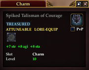 Spiked Talisman of Courage