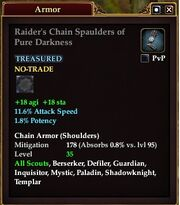 Raider's Chain Spaulders of Pure Darkness